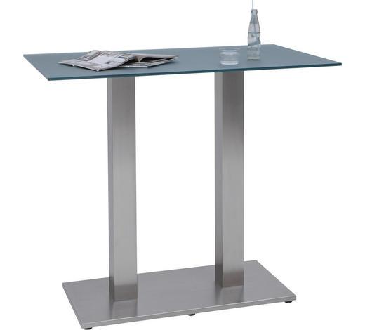 BARTISCH in Metall, Glas 120/70/105 cm - Edelstahlfarben/Grau, Design, Glas/Metall (120/70/105cm) - Dieter Knoll