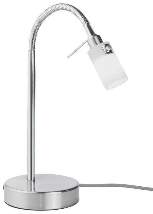 TISCHLEUCHTE - Weiß/Nickelfarben, Basics, Glas/Metall (12/37cm) - Dieter Knoll