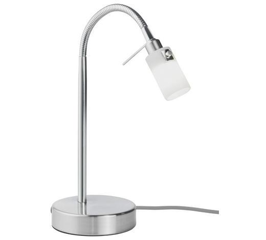TISCHLEUCHTE - Weiß/Nickelfarben, Design, Glas/Metall (12/37cm) - Ada Austria