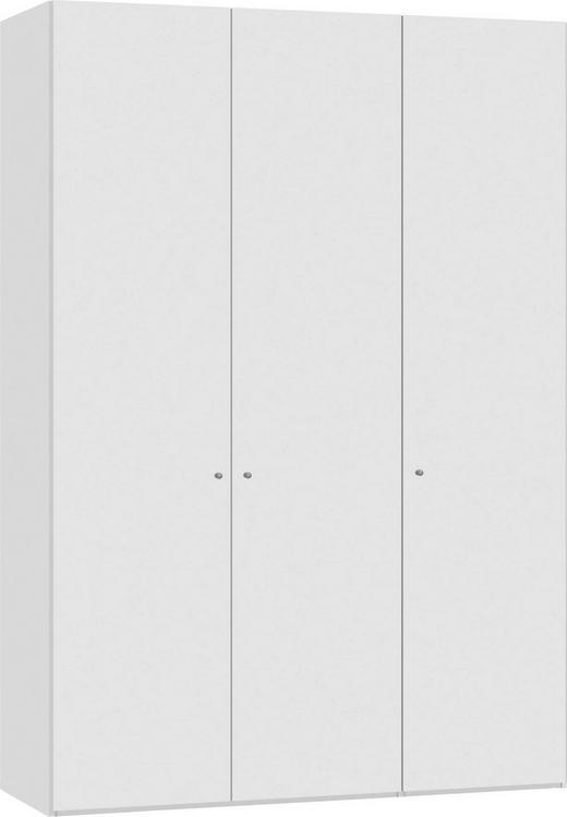 DREHTÜRENSCHRANK 3-türig Weiß - Silberfarben/Weiß, Design, Holzwerkstoff/Metall (152,2/220/59cm) - Jutzler