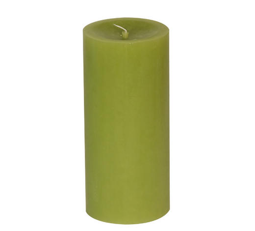 STUMPENKERZE 6,8/15 cm  - Hellgrün, Basics (6,8/15cm) - Steinhart