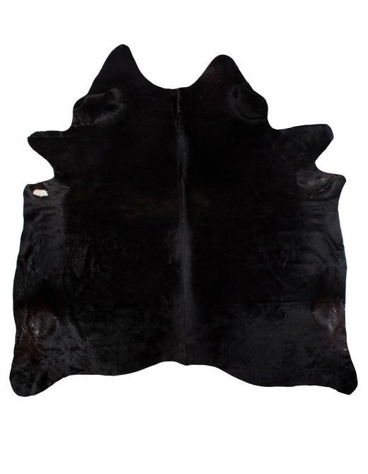 RINDERFELL  160/250 cm  Schwarz - Schwarz, Basics, Leder/Weitere Naturmaterialien (160/250cm)