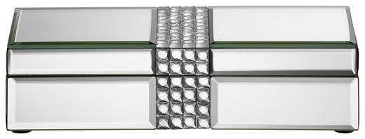 SCHMUCKBOX - Klar/Silberfarben, Glas (25,7/10,7/6,7cm) - Ambia Home