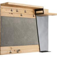 GARDEROBENPANEEL Eiche furniert, mehrschichtige Massivholzplatte (Tischlerplatte) Eichefarben, Grau - Eichefarben/Grau, Design, Glas/Holz (128,2/101/34,7cm) - VOGLAUER