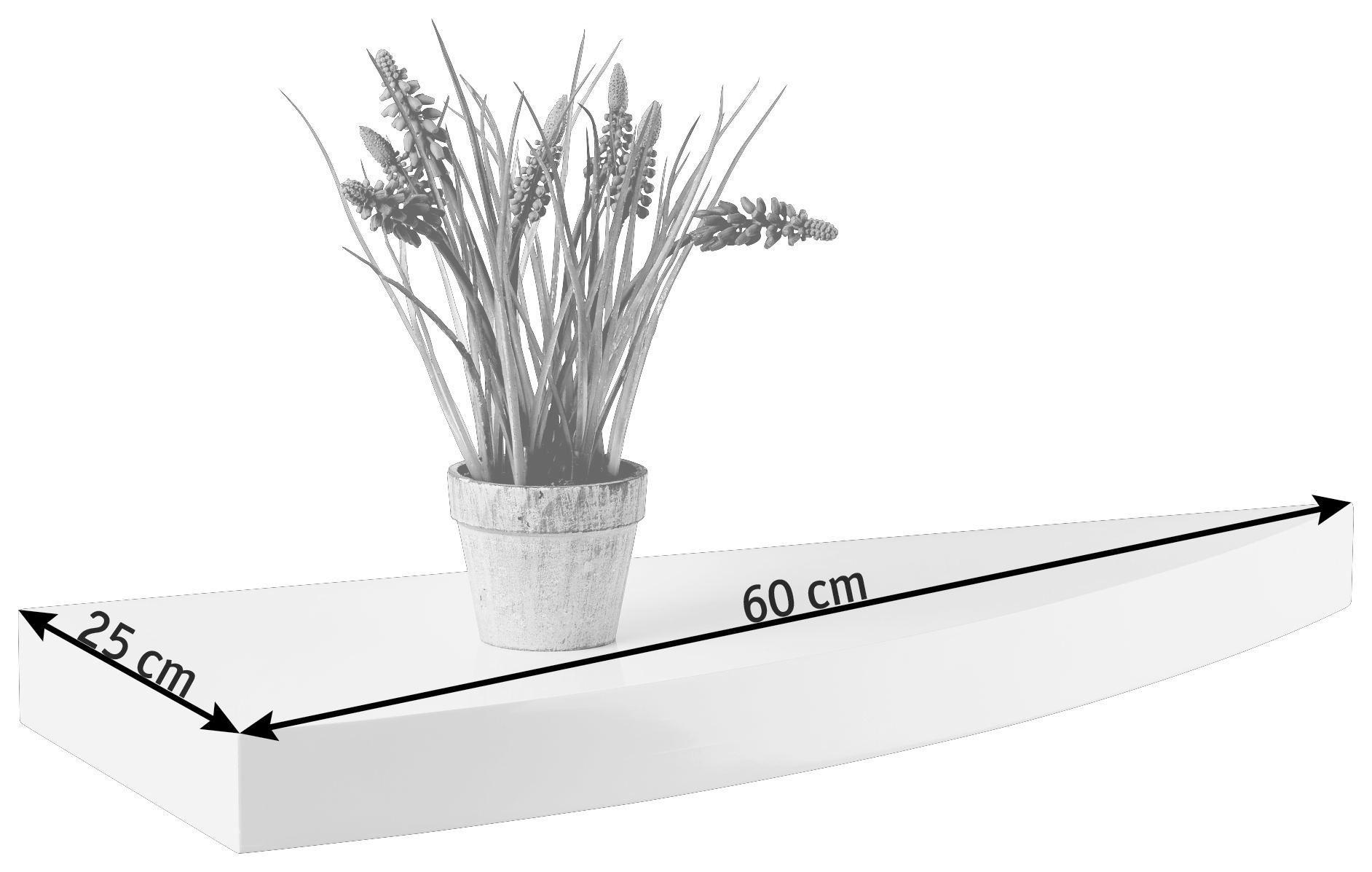 WANDBOARD in Weiß - Weiß, Holzwerkstoff (60/25cm)