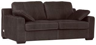 ZWEISITZER-SOFA in Textil Braun  - Dunkelbraun/Braun, Design, Holz/Textil (195/70/89cm) - Carryhome