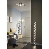 LED-DECKENLEUCHTE - Nickelfarben, Design, Metall (50/13/50cm)
