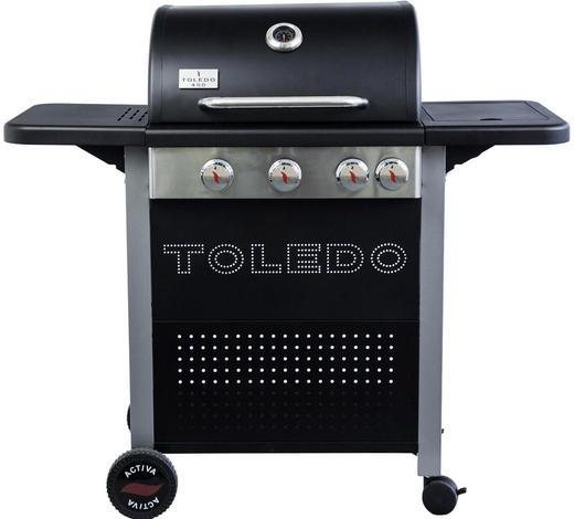 GASGRILL TOLEDO 400 - Silberfarben/Schwarz, KONVENTIONELL, Metall (117,6/108/48,4cm)