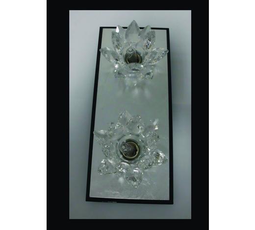 WANDLEUCHTE - Silberfarben/Schwarz, KONVENTIONELL, Metall (25/11/8cm)