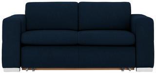 SCHLAFSOFA in Textil Dunkelblau  - Silberfarben/Dunkelblau, KONVENTIONELL, Kunststoff/Textil (190/83/98cm) - Carryhome