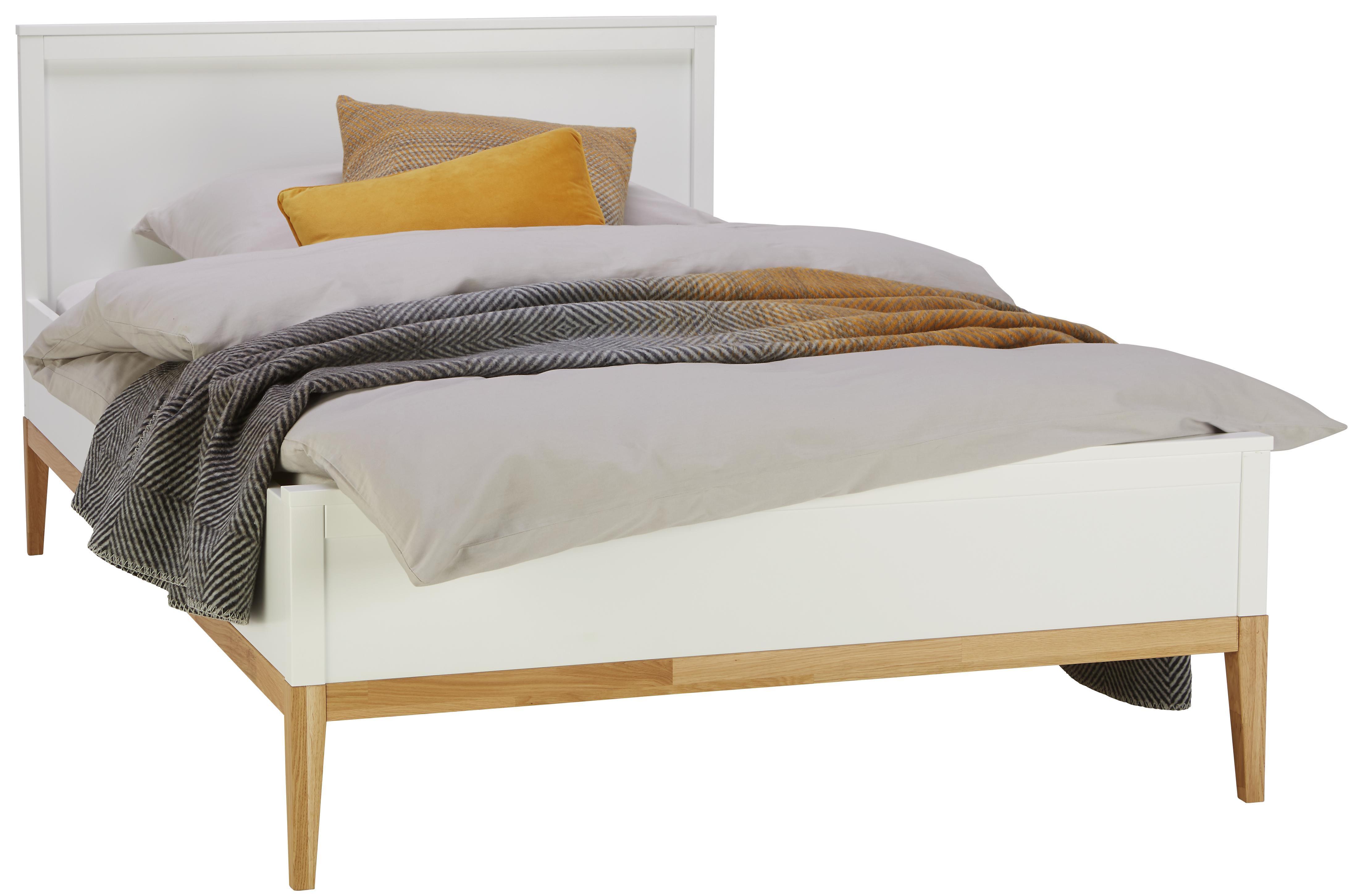 Bett In Weiss 120 X 200 Cm Bequem Liefern Lassen