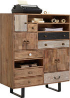 KOMMODE - Mooreichefarben/Multicolor, Trend, Holz/Holzwerkstoff (100/118/40cm) - Carryhome