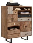 KOMMODE 100/118/40 cm  - Mooreichefarben/Multicolor, Trend, Holz/Holzwerkstoff (100/118/40cm) - Carryhome