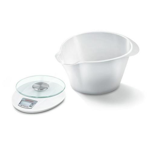 ELEKTRISCHE KÜCHENWAAGE - Weiß, Basics, Glas/Kunststoff (22/13/28cm) - Soehnle