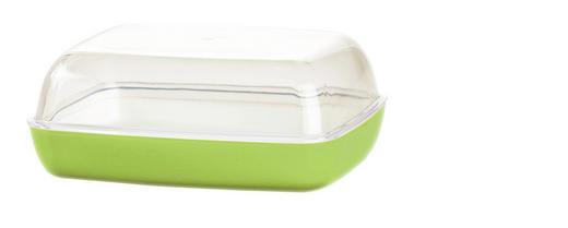 BUTTERDOSE Kunststoff - Hellgrün, Design, Kunststoff (13,8/10,6/5,4cm) - Emsa