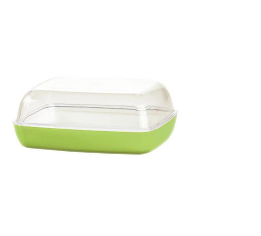 BUTTERDOSE Kunststoff  - Hellgrün, KONVENTIONELL, Kunststoff (13,8/10,6/5,4cm) - Emsa
