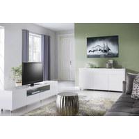 KOMODA SIDEBOARD, bílá - bílá/barvy chromu, Design, kov/kompozitní dřevo (165/83/40cm) - Xora