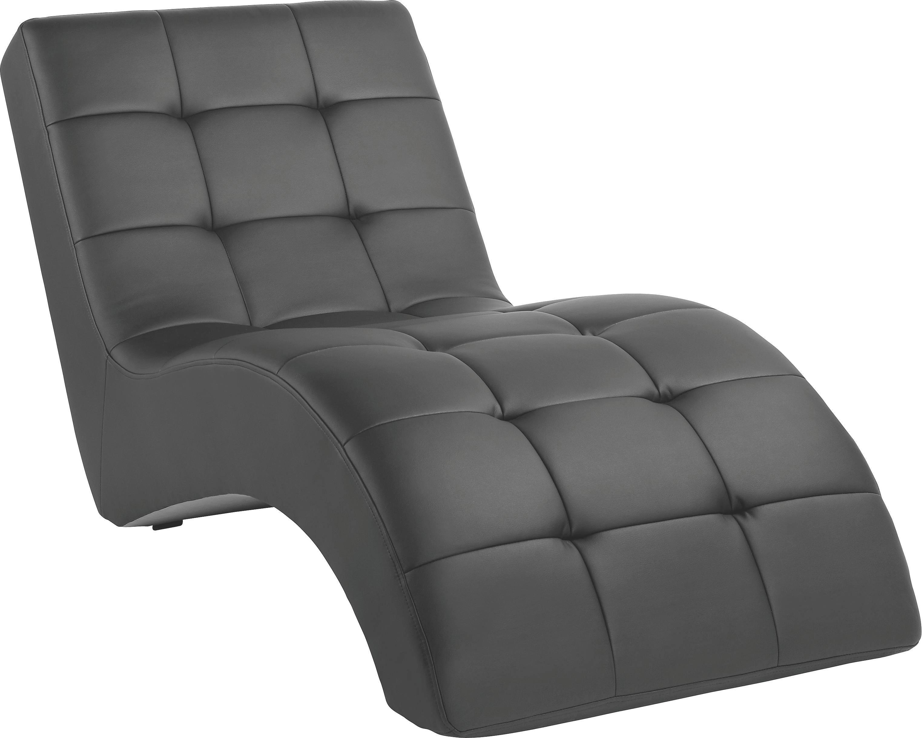 LIGGFÅTÖLJ - vit/svart, Design, textil/plast (75/85/170cm) - CARRYHOME