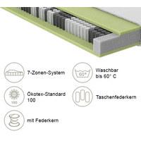 TASCHENFEDERKERNMATRATZE Gigant 400 90/200 cm  - Weiß, Basics, Textil (90/200cm) - Schlaraffia