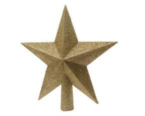 JULGRANSSPIRA - guldfärgad, Basics, plast (19cm)