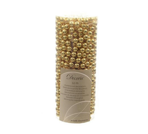 GIRLANDA,  - barvy zlata, Lifestyle, umělá hmota (1000cm)