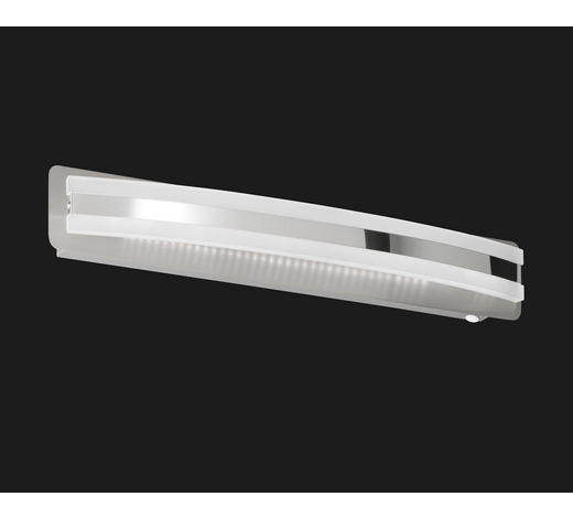 LED-WANDLEUCHTE   - Weiß/Nickelfarben, Basics, Kunststoff/Metall (48 cm)
