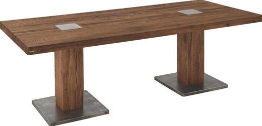 ESSTISCH Eiche massiv rechteckig Eichefarben - Eichefarben, LIFESTYLE, Holz/Metall (220/100/76,5cm) - Musterring
