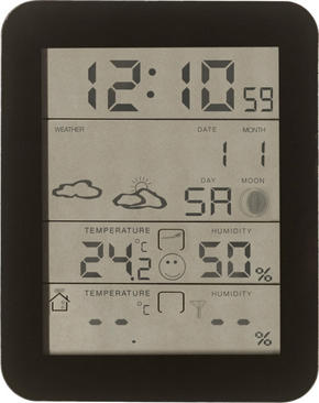 TRÅDLÖS VÄDERSTATION - svart, Basics, glas/plast (9,6/12/2,35cm) - Homeware