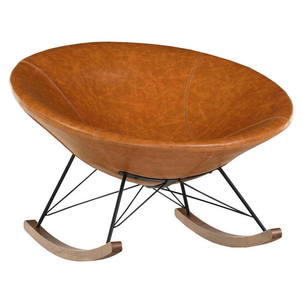 Schaukelstuhl mit runder Sitzschale