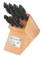 MESSERBLOCK 8-teilig - Buchefarben, Basics, Holz/Metall - Fissler