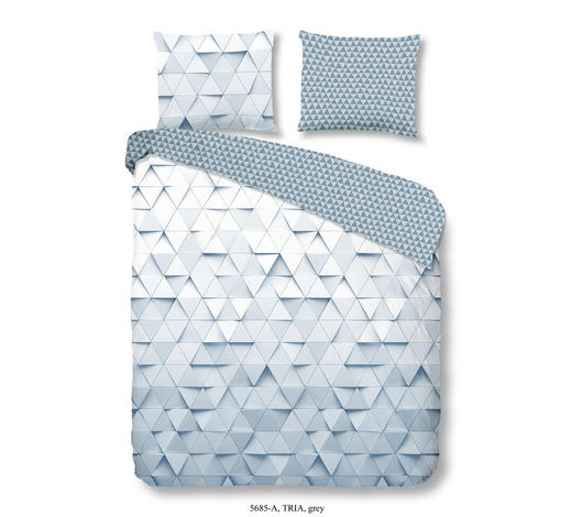 MLADINSKA POSTELJNINA TRIA - siva, Konvencionalno, tekstil (140/200cm)