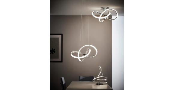 LED-HÄNGELEUCHTE 55/150 cm  - Chromfarben, Design, Metall (55/150cm) - Ambiente