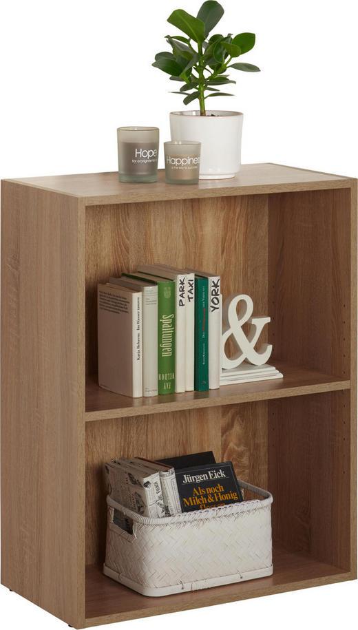 REGAL Eichefarben - Eichefarben/Schwarz, Design, Holzwerkstoff/Kunststoff (60/76,8/32cm) - Carryhome