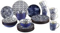 KOMBINIRANI SERVIS - modra/bela, Trend, keramika - Ritzenhoff Breker