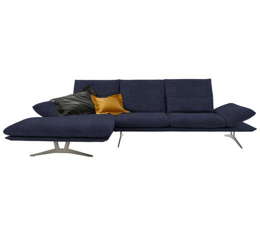 WOHNLANDSCHAFT in Textil Blau - Blau, Design, Textil/Metall (159/314cm) - Koinor