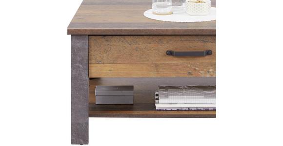 Couchtisch Ontario - Eichefarben/Dunkelgrau, Trend, Holzwerkstoff (101/50,5/70cm) - Ombra