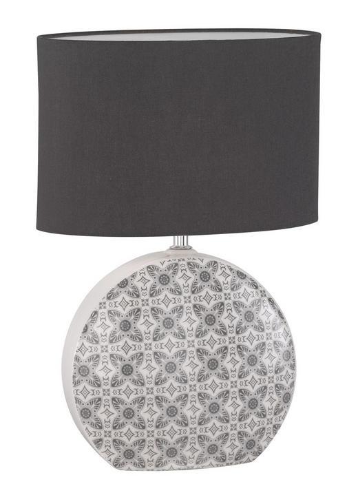 TISCHLEUCHTE - Weiß/Grau, LIFESTYLE, Keramik/Textil (30/44/15cm)