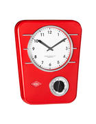 UHR  Rot  - Rot, Basics, Kunststoff/Metall (24,5/5/30,5cm) - Wesco