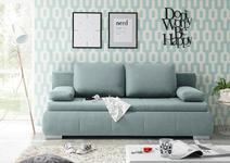 SCHLAFSOFA in Textil, Holzwerkstoff Blau  - Blau/Silberfarben, KONVENTIONELL, Holzwerkstoff/Kunststoff (208/95/105cm) - Carryhome