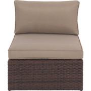 LOUNGEMITTELTEIL  - Beige/Braun, Design, Kunststoff/Textil (72/65/84cm) - Ambia Garden