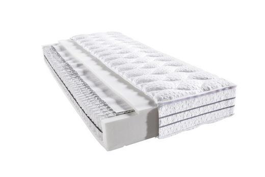 TASCHENFEDERKERNMATRATZE 120/200 cm - Weiß, Basics, Textil (120/200cm) - Bentley