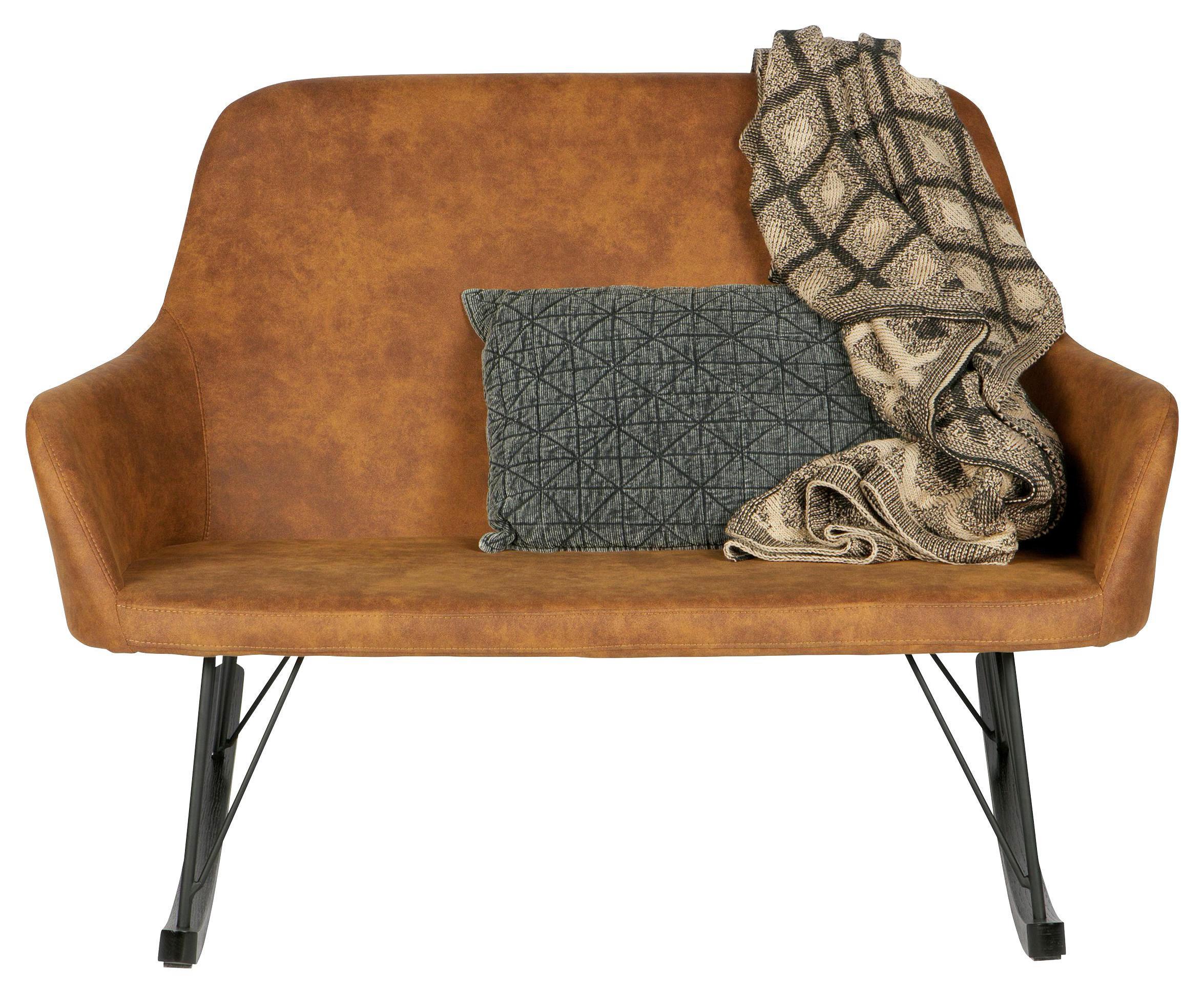 SOFA in Braun Textil - Braun, Design, Holz/Textil (126/89/98cm) - Ambia Home