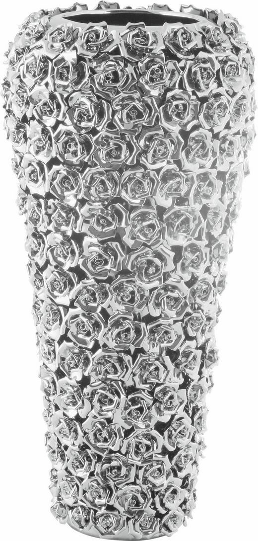 VASE - Chromfarben, Design, Keramik (22/45/22cm) - Kare-Design