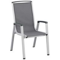 STAPELSESSEL - Anthrazit/Silberfarben, Design, Textil/Metall (59/104,5/70cm) - Kettler HKS
