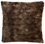 Fellkissen Linessa 45x45 cm - Braun, KONVENTIONELL, Textil (45qm) - Ombra