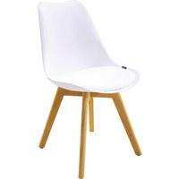 STUHL in Holz, Kunststoff, Textil Eichefarben, Weiß - Eichefarben/Weiß, Design, Holz/Kunststoff (48/84/53cm) - XORA
