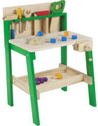 KINDERWERKBANK - Naturfarben/Grün, Basics, Holz (45,6/37/64cm) - My Baby Lou