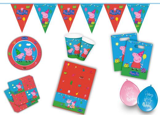 """Partyset """"Peppa Pig"""" - Blau/Rot, Papier/Kunststoff"""