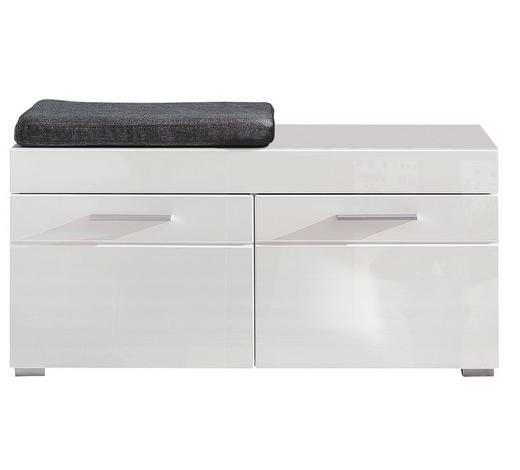 GARDEROBENBANK 91/42/38 cm - Silberfarben/Weiß, Design, Holzwerkstoff/Kunststoff (91/42/38cm) - Carryhome