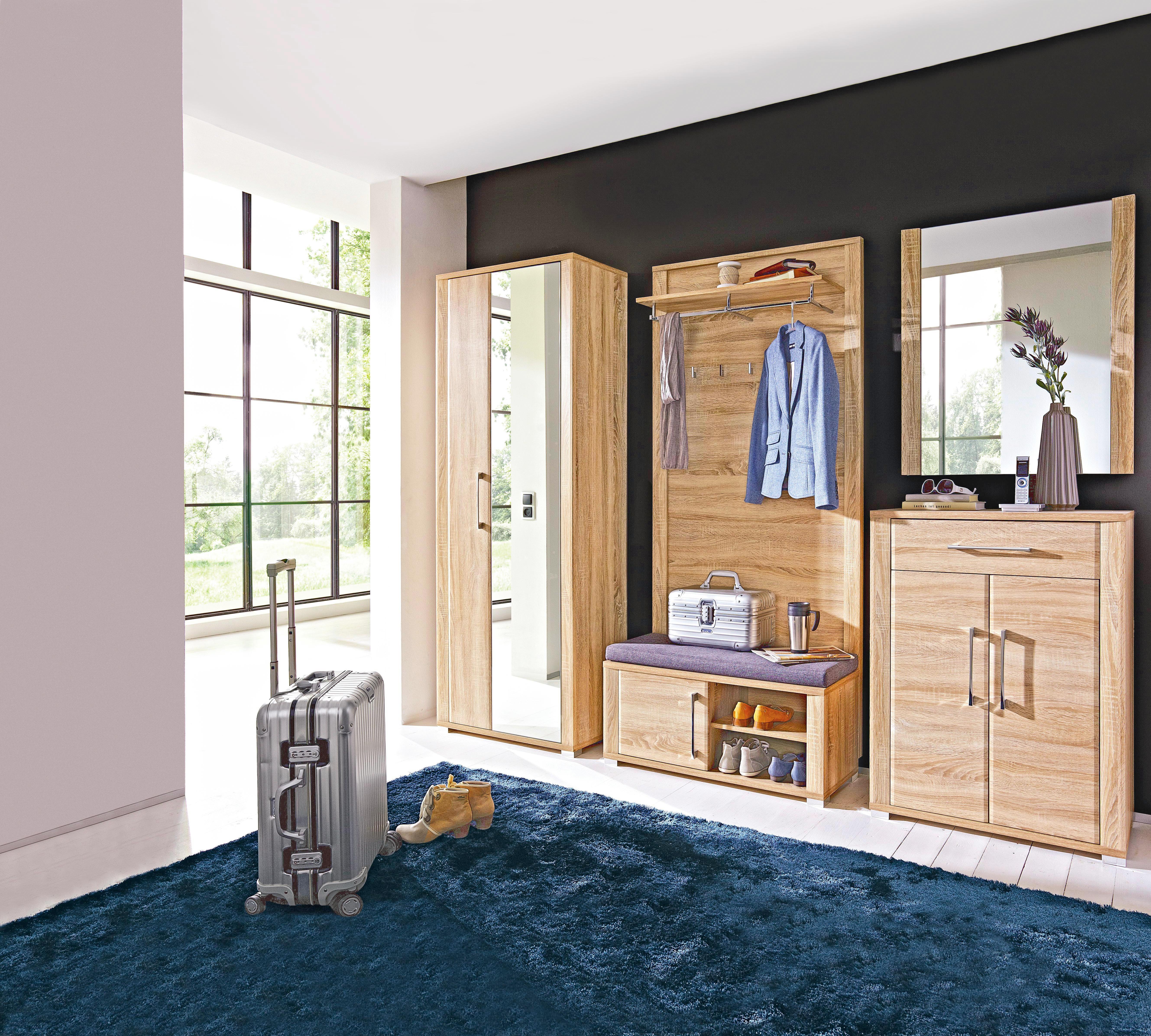 SCHUHSCHRANK Sonoma Eiche - Chromfarben/Sonoma Eiche, Basics, Holzwerkstoff/Kunststoff (74/100/40cm) - CANTUS